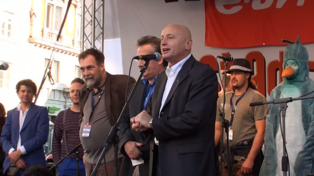 Stadtspektakel Landshut - OB Hans Rampf, Martin Hilz, Kelly Baumann